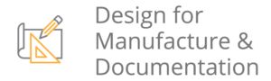 design for manufacture and documentation icon