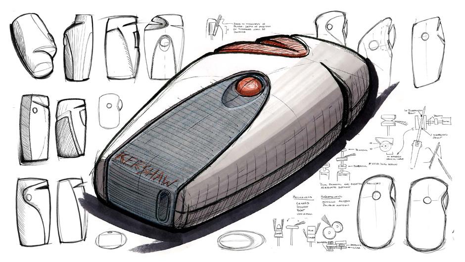 knife sharpener design sketch work
