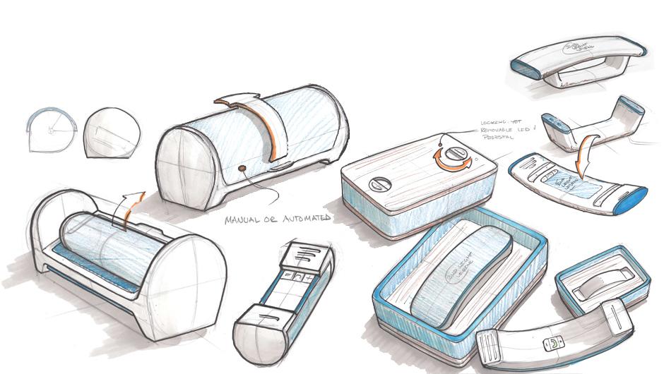 bud light living line phone design sketch