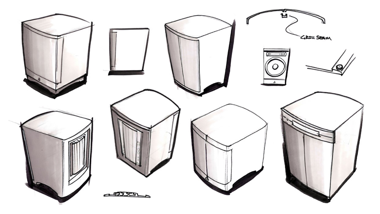 subwoofer design sketch