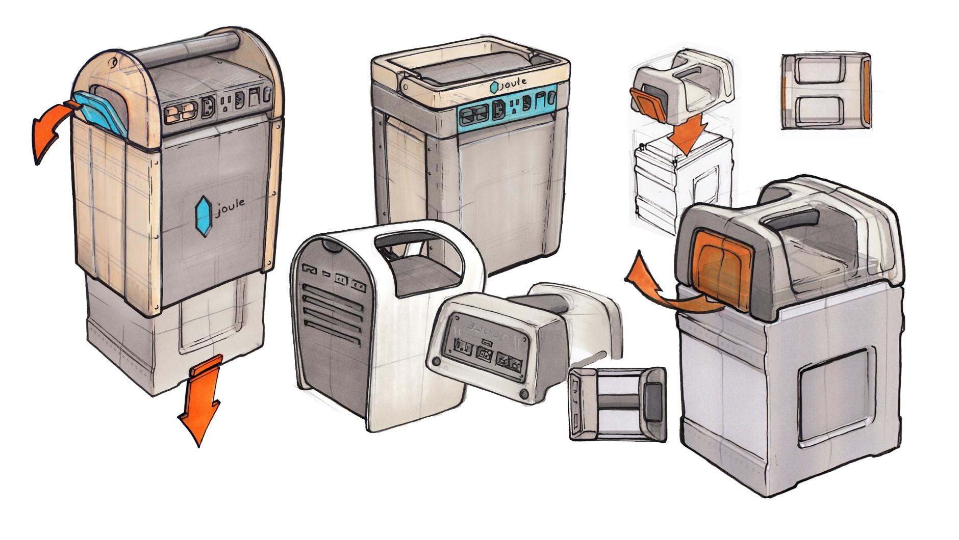 joule case prototype design sketch work