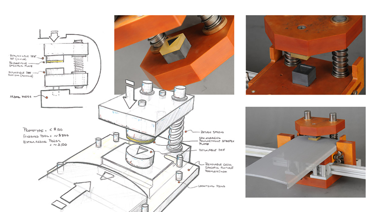 omnise manufacturing sketch and rendering