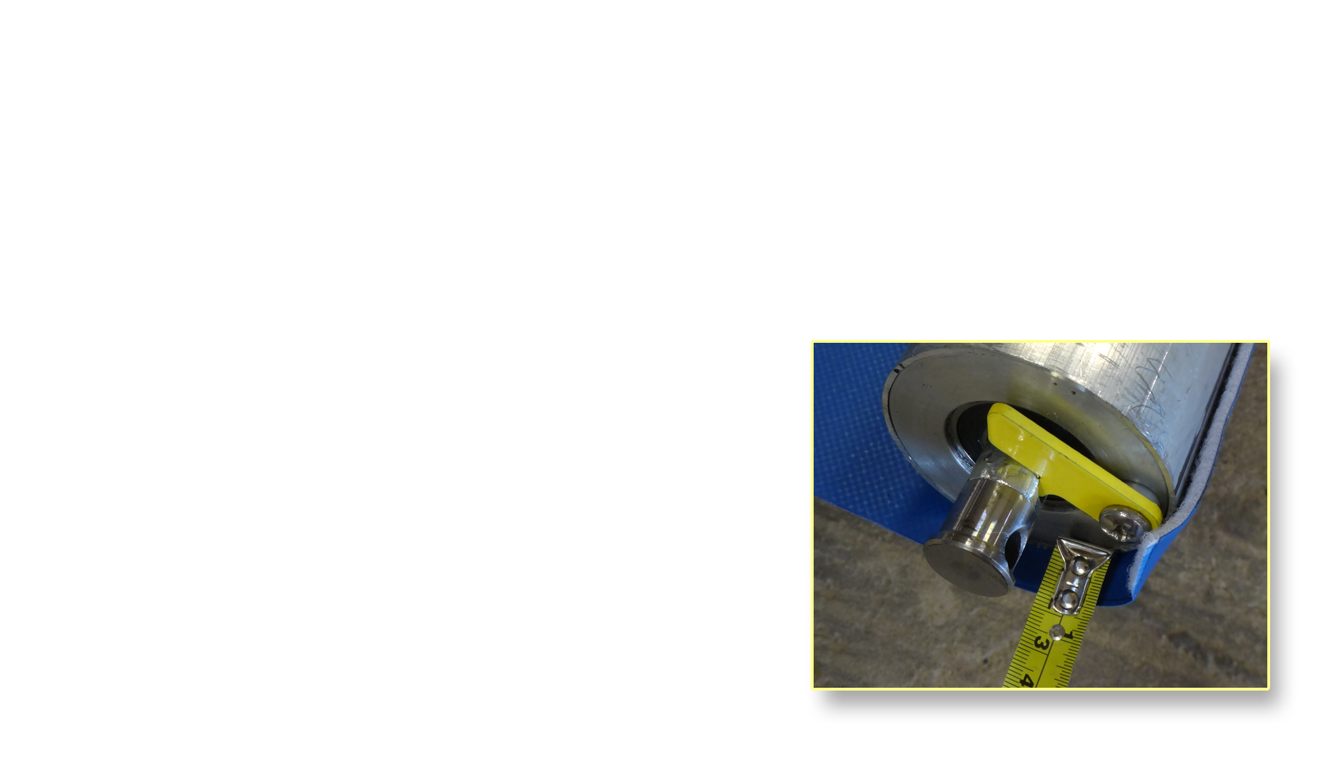 kool shield spindle with tape measure