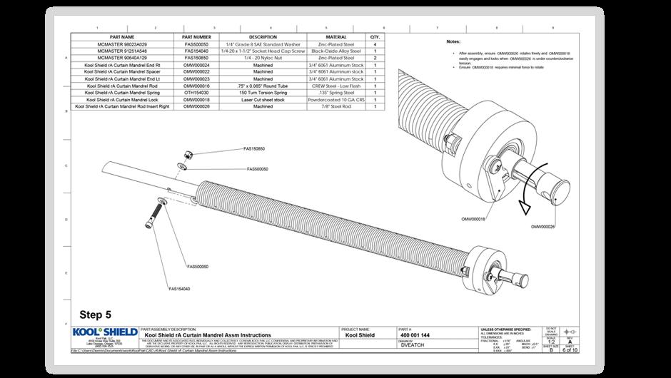kool shield manufacturing documentation