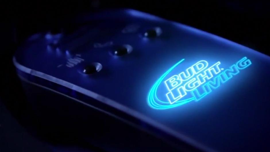 bud light living line logo lights