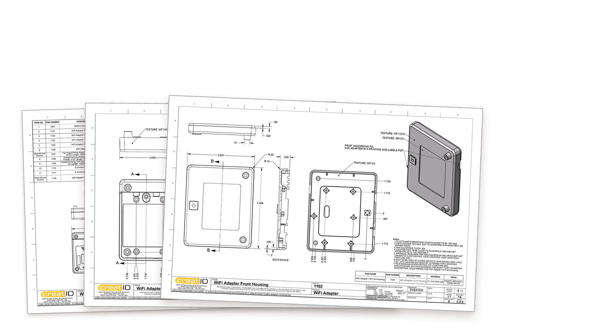 wifi adapter manufacturing documentation