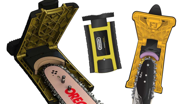 chainsaw sharpener CAD rendering
