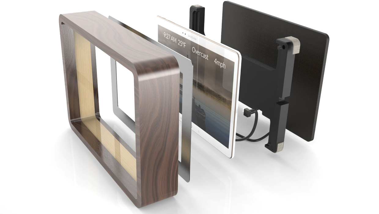 living screen cad rendering exploded view