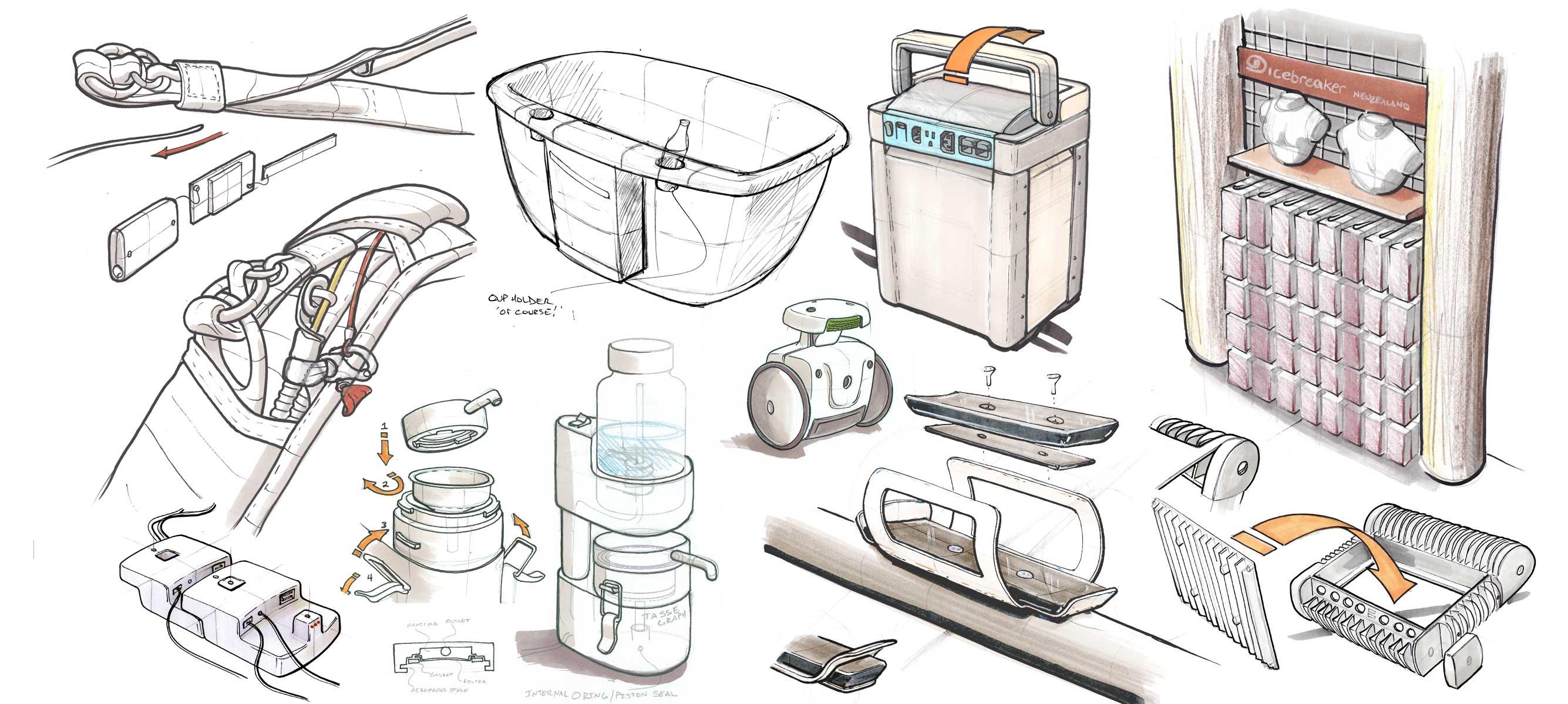 concept sketch work design samples